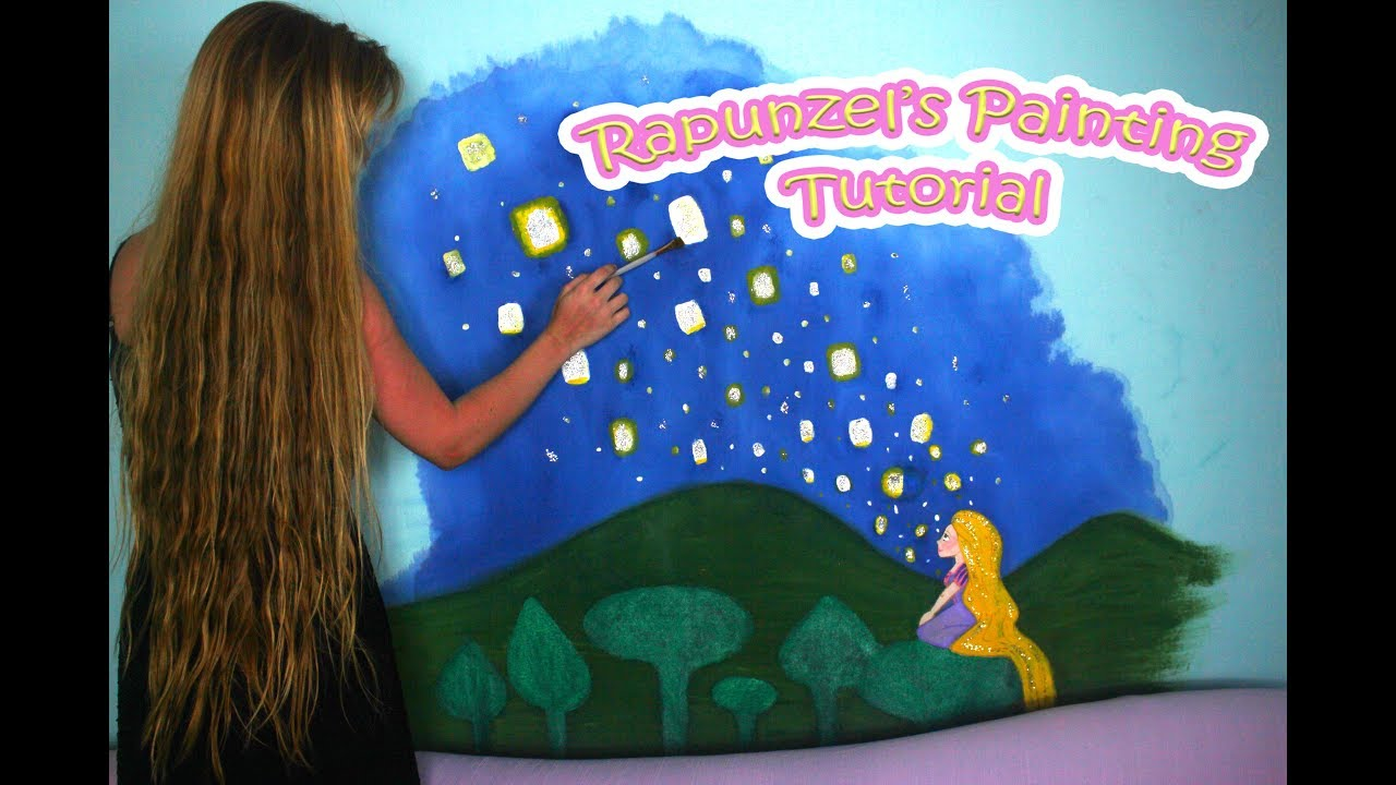 Tangled Inspired Rapunzel S Painting Tutorial Youtube