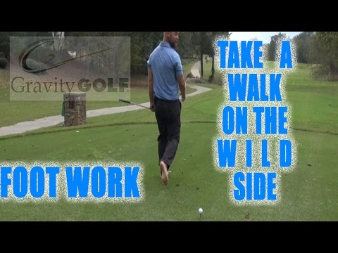 Footwork in the golf swing | Simplifying the golf swing | Fun practicing barefoot