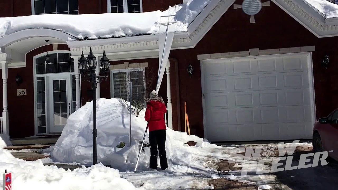 Amazing Teen Girl Assembles 30 Ft Snowpeeler Roof Rake In