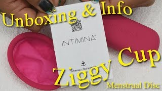 An unboxing and some info about Intimina's new Ziggy Cup - Menstrua...