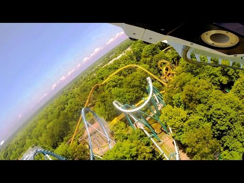 Alpengeist front seat on-ride HD POV @60fps Busch Gardens Williamsburg