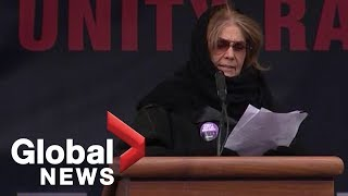 Gloria Steinem speaks at 2019 Women's March in New York City