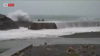 Two dead as Typhoon Hagibis hits Japan