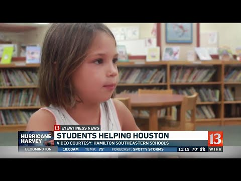 Hoosier Rd Elementary Students Help Hurricane Victims