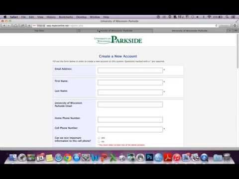 """University of Wisconsin-Parkside: How to schedule an appointment using """"wc online"""""""