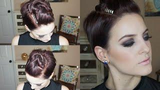 Pompadour Updo for Pixie Hair