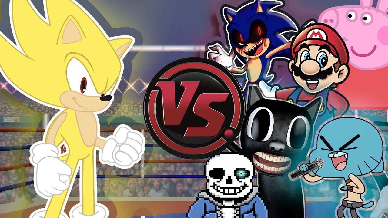 SONIC NIGHTCORE CONCERT! (Sonic The Hedgehog vs Sonic.EXE, Mario, Peppa & More) CARTOON RAP ATTACK