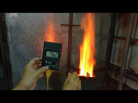 火箭柴爐溫度量測