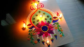 Diwali rangoli 2018/least beautiful FESTIVAL