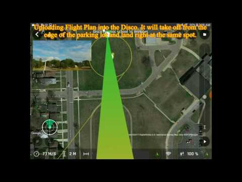 Maiden Flight Of The Parrot Disco And Crash Saturday July 8, 2017