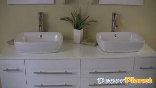 Bellezza Bathroom Vanity - White Finish - Decorplanet.com