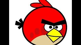 Как нарисовать птичку Angry bird. How to Draw Red Angry Birds in Pencil(Хочу предложить вам видео урок по рисованию цветными карандашами. Смотрите пожалуйста моё видео, надеюсь..., 2015-09-07T11:15:46.000Z)