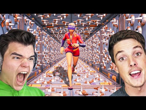 Attempting LAZARBEAM'S MOST DIFFICULT Deathrun EVER! (Fortnite)