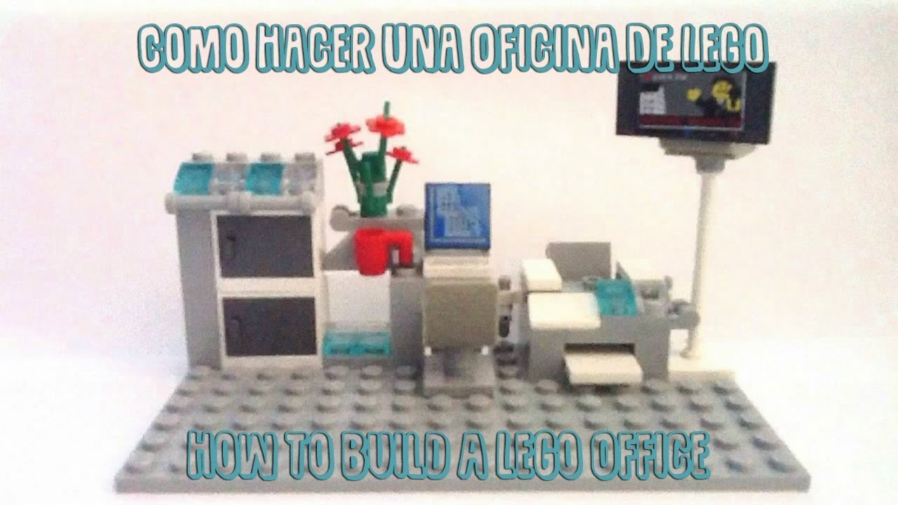 Como hacer una oficina de lego how to build a lego for Como construir una oficina