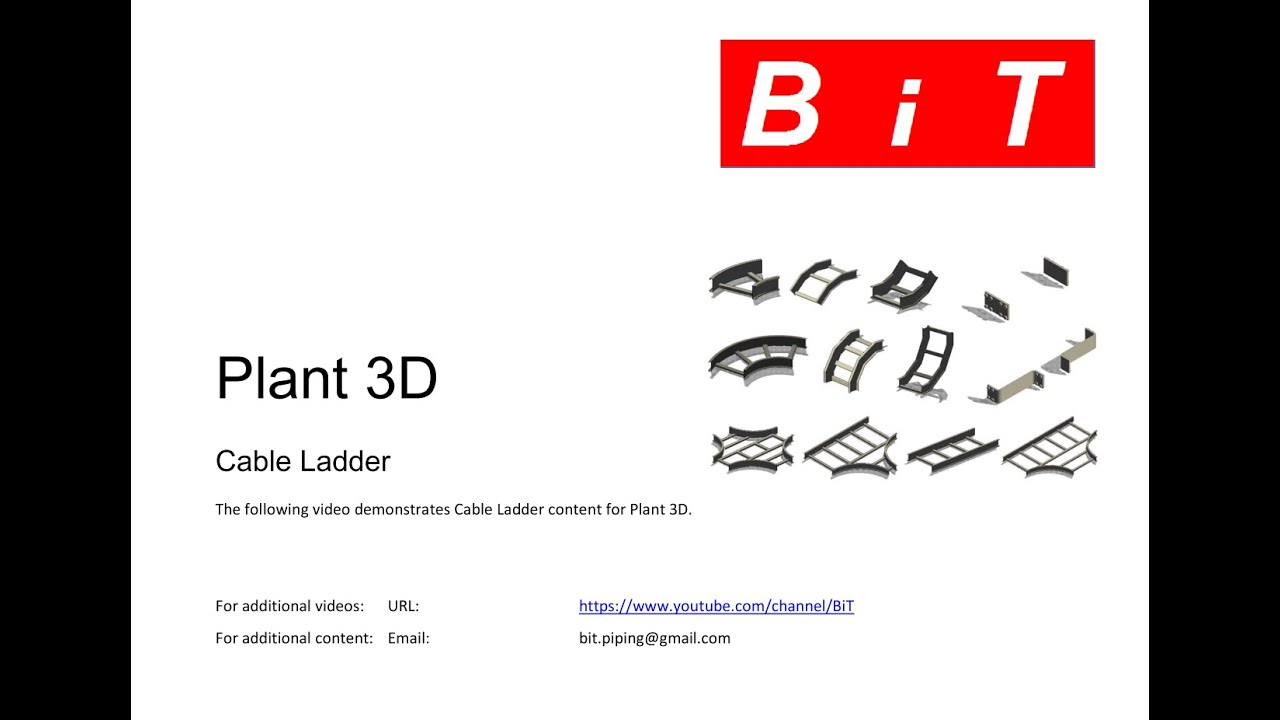 cable ladder in plant 3d 2 by bit youtube