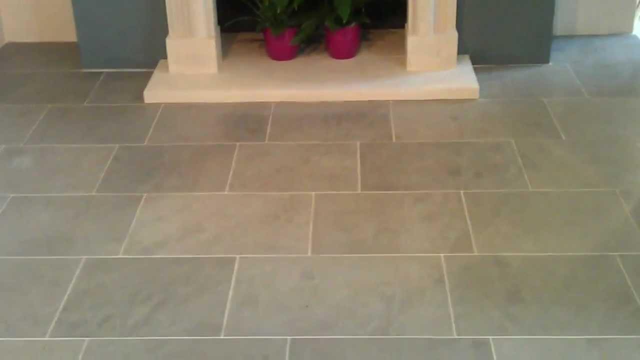 Grey Limestone - English Blue Limestone Flooring - YouTube
