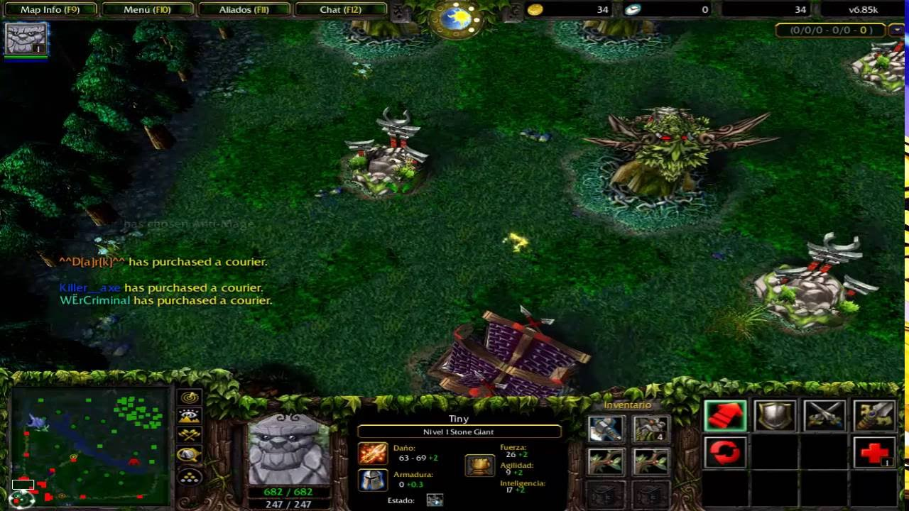 tiny stone giant dota v6 85k allstars rgc something god dota 1
