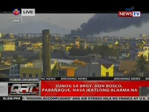 QRT: Sunog sa Brgy. Don Bosco, Parañaque, nasa ikatlong alarma na