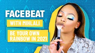 Mihlali's 2021 Make Up Look   The Year of Confidence   Rainbow Eyes   #FacebeatWithMihlali   DStv screenshot 2
