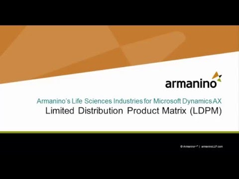 Limited Distribution Product Matrix (LDPM): Life Sciences for AX