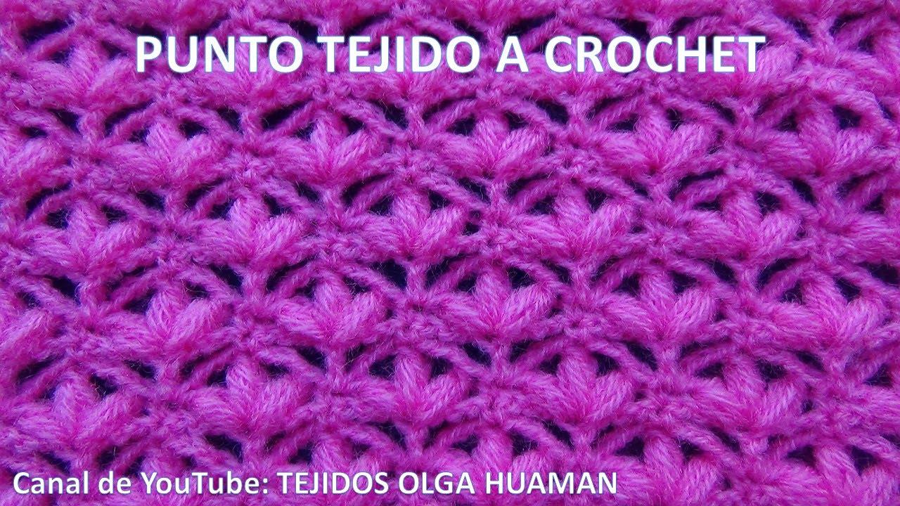 Punto tejido a crochet o ganchillo para mantitas de bebe - Punto de ganchillo para mantas ...