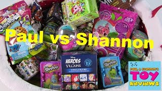 Paul vs. Shannon | Shopkins Disney Tokidoki MLP | Blind Bag Opening | PSToyReviews