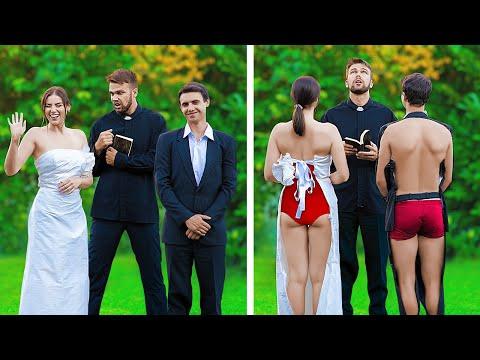 Rich Bride Vs Broke Bride / 12 Funny And Awkward Moments