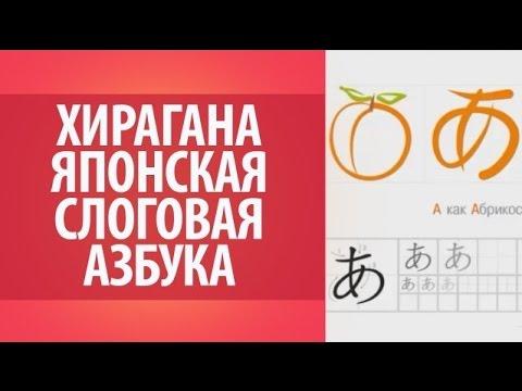Хирагана ряд А. Японская слоговая азбука.