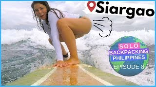 One of Backpacking Bananas's most viewed videos: SURFING IN SIARGAO // Solo Backpacking the Philippines
