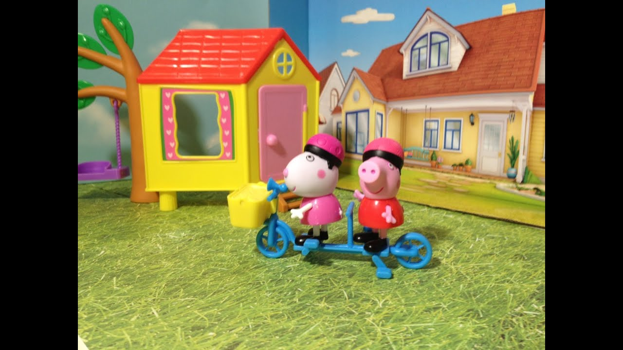 Peppa Pig Bicycle Together Playset Toys Video Youtube
