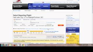Booking a Southwest Rapid Rewards Flight
