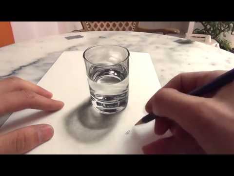 Illusion D Optique Verre Dessin