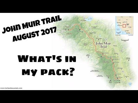 John Muir Trail 2017 Gear List