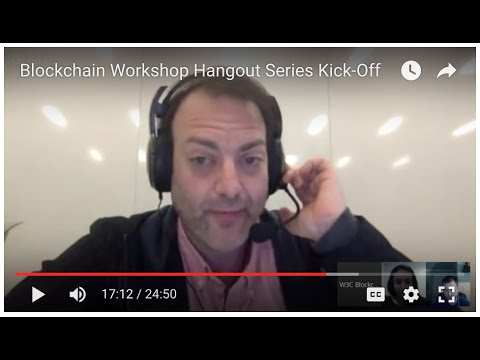 Blockchain Workshop Hangout Series Kick-Off
