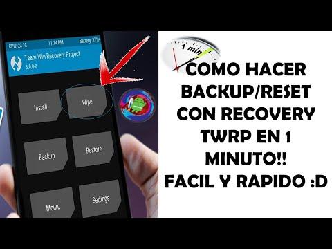 Como FORMATEAR CUALQUIER DISPOSITIVO Con Recovery TWRP En 1 Minuto Facil Y Rapido!!