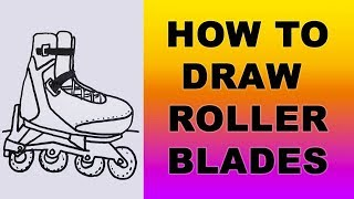 How to Draw Rollerblades