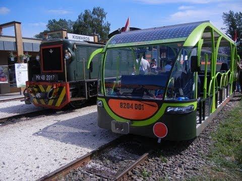 Narrow gauge railway - Solar train - Királyrét: gőzös, dízel és napelemes motorkocsi