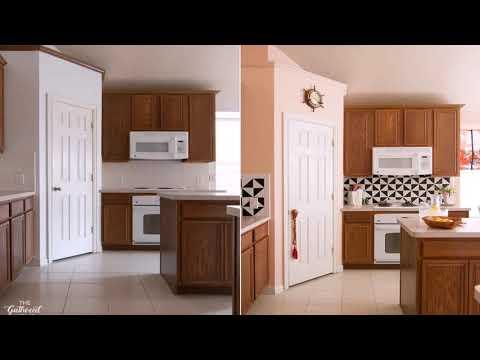 White Shaker Kitchen Cabinets With Gray Quartz Countertops Youtube
