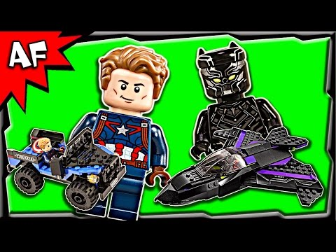 Lego Civil War BLACK PANTHER Pursuit 76047 Stop Motion Build Review