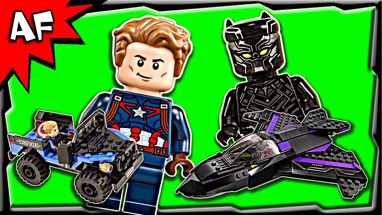 Lego Civil War BLACK PANTHER Pursuit 76047 Stop Motion Build Review