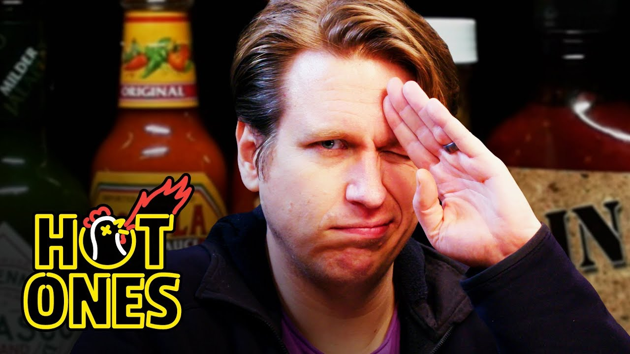 Watch Comedian Pete Holmes Try to Conquer the Hot Ones Challenge
