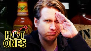 Download Pete Holmes Does Improv While Eating Spicy Wings | Hot Ones Mp3 and Videos