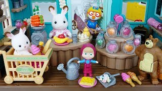 Baby doll and fruit food mini mart toys masha and Bear and pororo play  - 토이몽