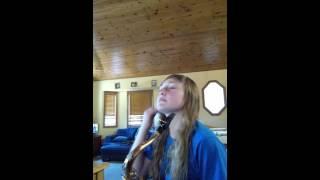 Christina Perri - 1000 years on tenor sax.