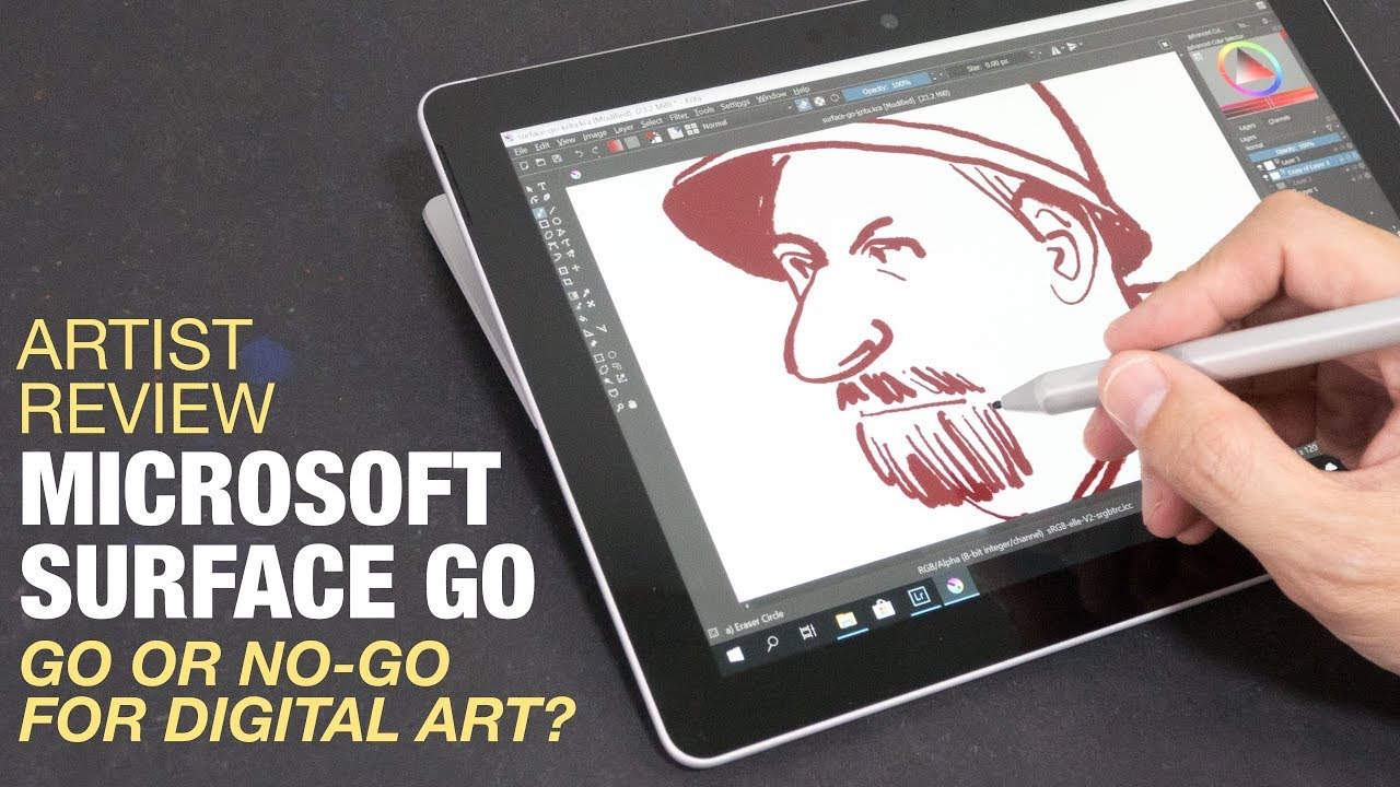 Artist Review: Microsoft Surface Go not the Value Option for Casual