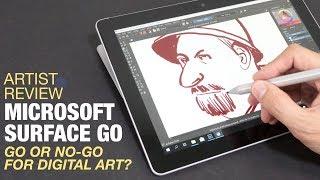 Artist Review: Microsoft Surface Go (or No-Go?)