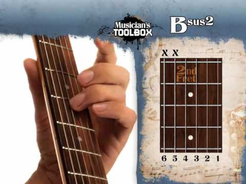How To Play The B Sus 2 Chord On Guitar Bsus2 Youtube