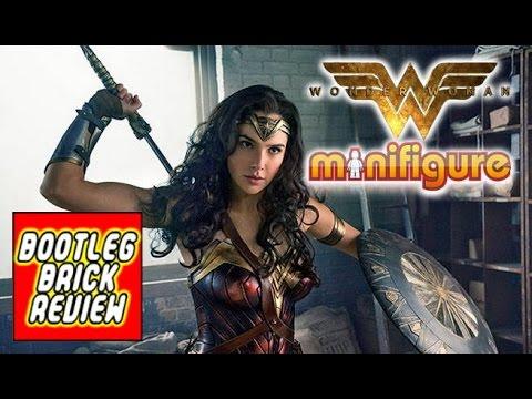 Bootleg Brick Review: Gal Gadot as WONDER WOMAN minifigure with Sword of Athena & Shield