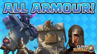 Clash Royale - *ALL ARMOUR* metal decks! 4k HD