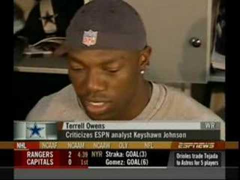 Keyshawn Johnson vs TO Terrell Owens Parts 1-3